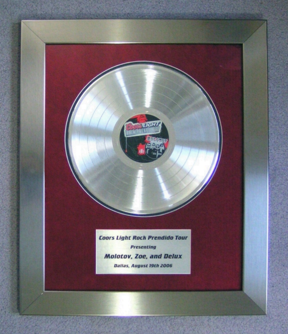 Gold Records Custom Made Manufacturer Of Commemorative Awards