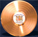 12 inch Gold Record Award