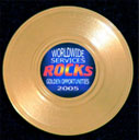 mini gold record magnet