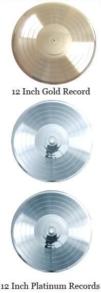12 inch gold record and platinum record blanks
