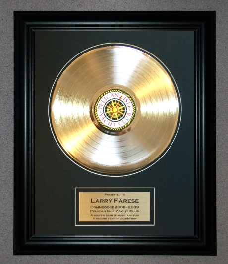 12quot; GOLD RECORD, LARGE FRAME